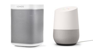 Sonos Play One und Google Home (Bilder: Sonos, Google)