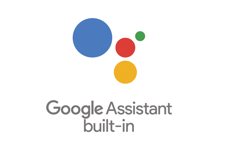 """Built-in"" statt ""Works with"" (Logo: Google)"
