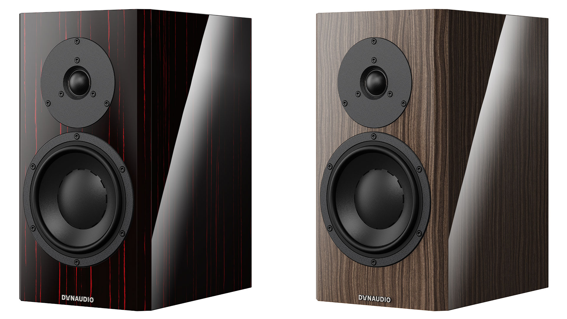 "Dynaudio Special Forty in ""Black Vine"" (l.) und ""Ebony Wave"" (r.) (Bilder: Dynaudio)"