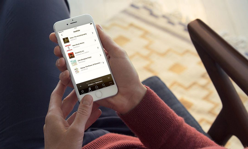 Audible in der Sonos-App (Bild: Sonos)